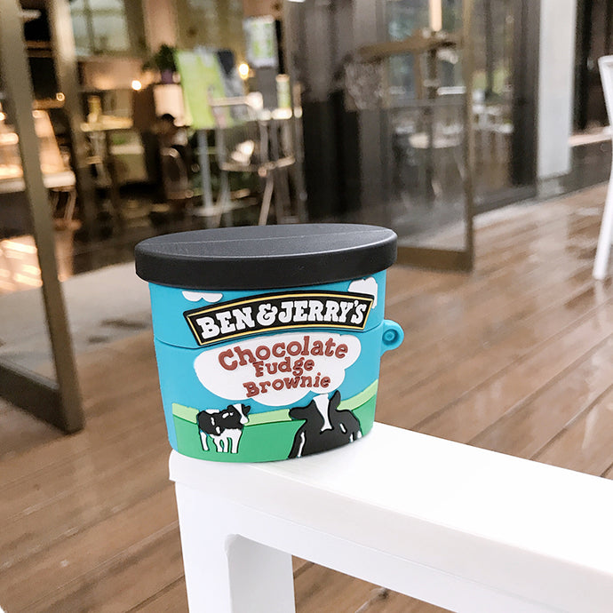 Ben and Jerry's 'Fudge Brownie | Ice Cream' Premium AirPods Pro Case Shock Proof Cover