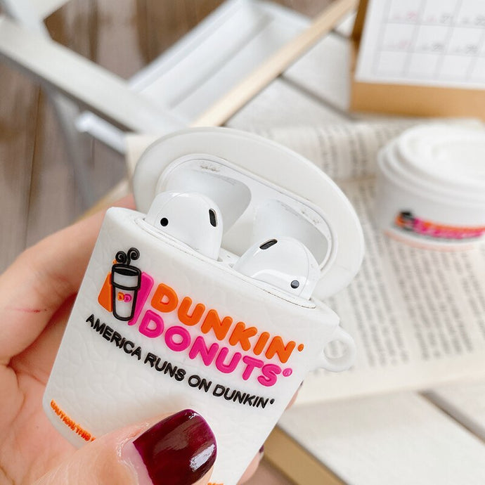 Dunkin Donuts Cup Premium AirPods Case Shock Proof Cover