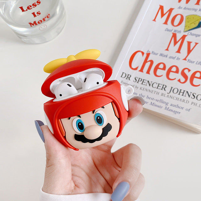 Propeller Mario Premium AirPods Case Shock Proof Cover