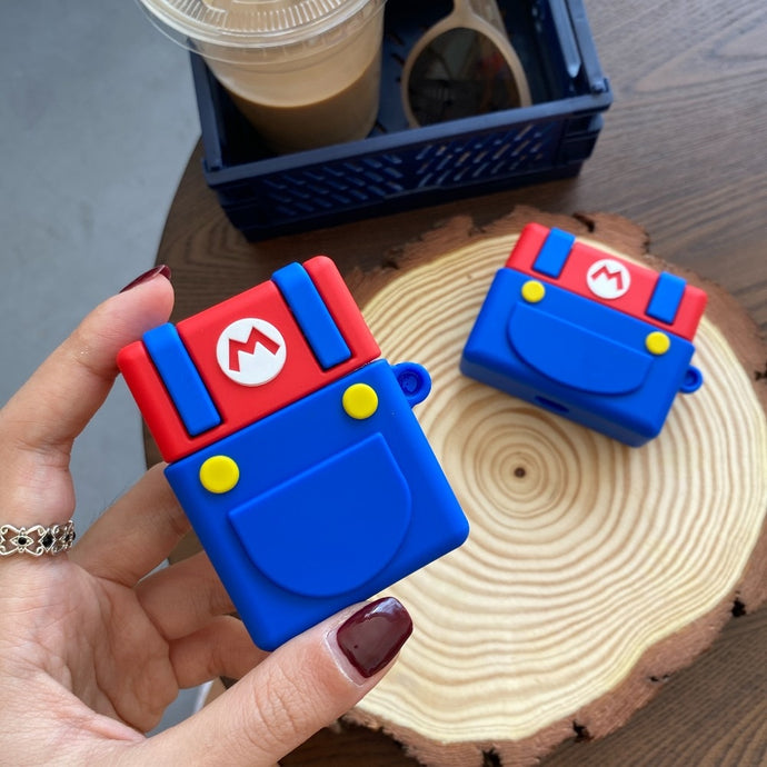 Super Mario Bros 'Buttons' Premium AirPods Case Shock Proof Cover