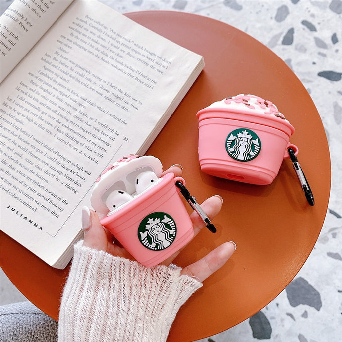 Starbucks 'Strawberry Frappuccino' Premium AirPods Case Shock Proof Cover