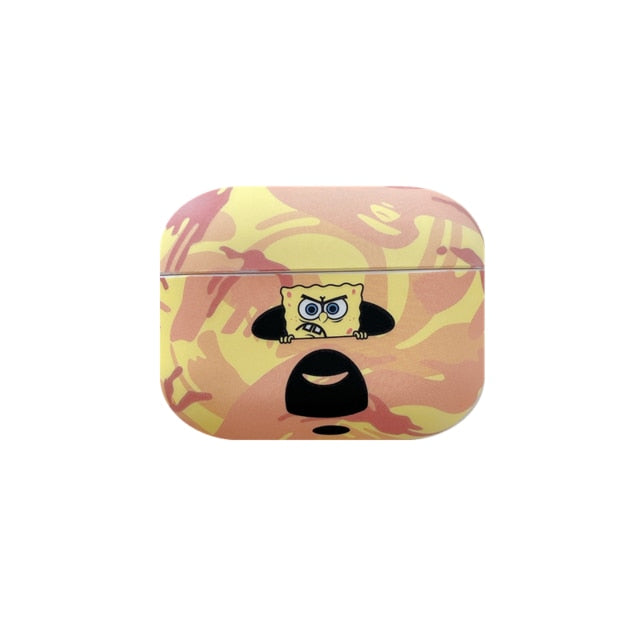 Spongebob 'Bathing Ape' AirPods Pro Case Shock Proof Cover