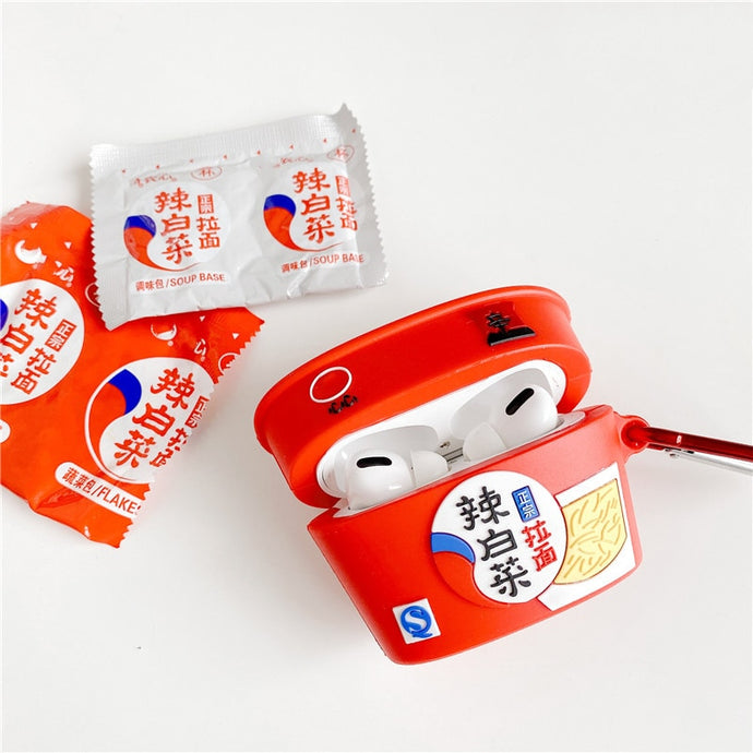 Korean Nongshim Kimchi Ramen Premium AirPods Pro Case Shock Proof Cover
