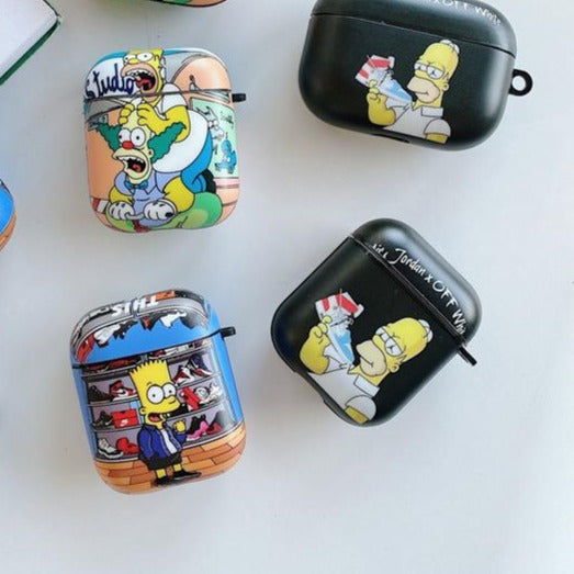 The Simpons 'Air | Off White' AirPods Case Shock Proof Cover
