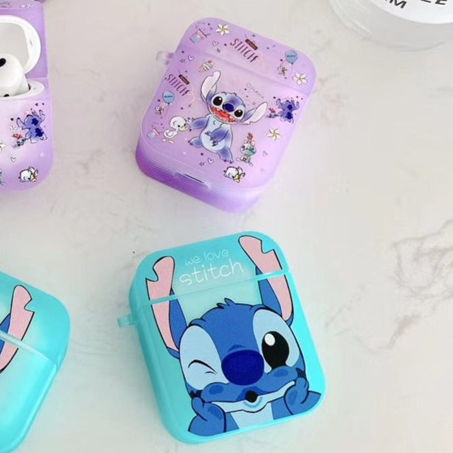 Lilo and Stitch 'Fluorescent' AirPods Case Shock Proof Cover