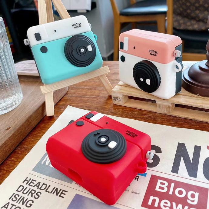 Cute Polaroid Camera Premium AirPods Case Shock Proof Cover