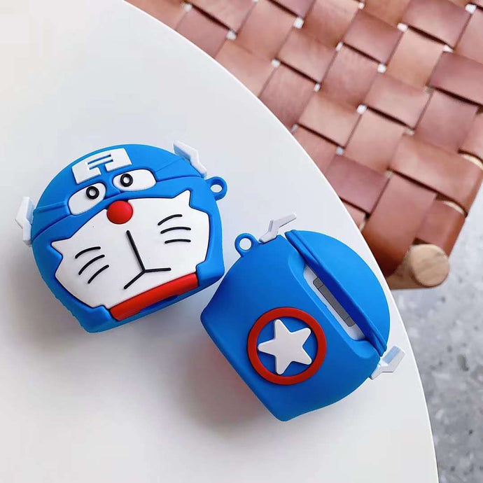 Doraemon 'Captain America' Premium AirPods Case Shock Proof Cover
