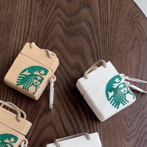 Classic Starbucks Shopping Bag Premium AirPods Case Shock Proof Cover