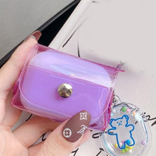 Load image into Gallery viewer, Clear Fluorescent Candy Color Holster AirPods Pro Case