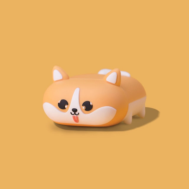 Cute Dog 'Walking Shiba' Premium AirPods Case Shock Proof Cover