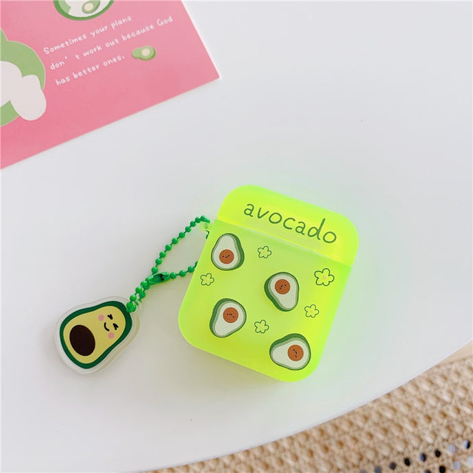 Fluorescent Avocado AirPods Case Shock Proof Cover