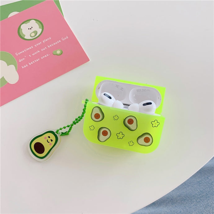 Fluorescent Avocado AirPods Pro Case Shock Proof Cover