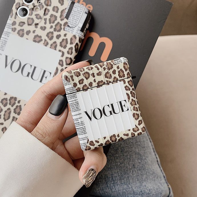 Vogue Leopard Modular AirPods Case Shock Proof Cover