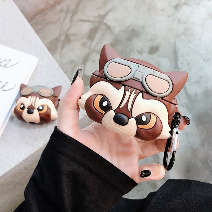 Rocket Racoon Premium AirPods Case Shock Proof Cover