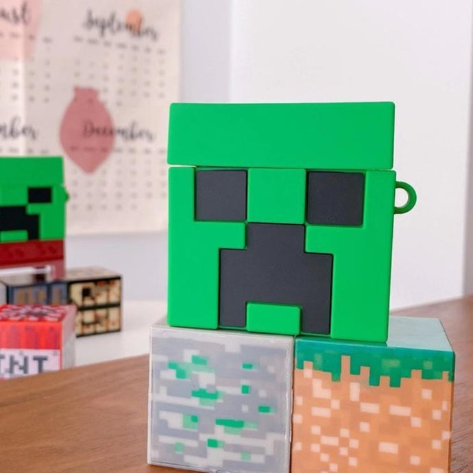 Minecraft 'Creeper' Premium AirPods Case Shock Proof Cover