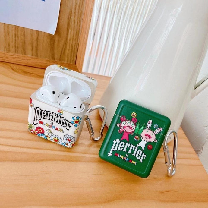 Perrier 'Takashi Murakami x Perrier' AirPods Case Shock Proof Cover