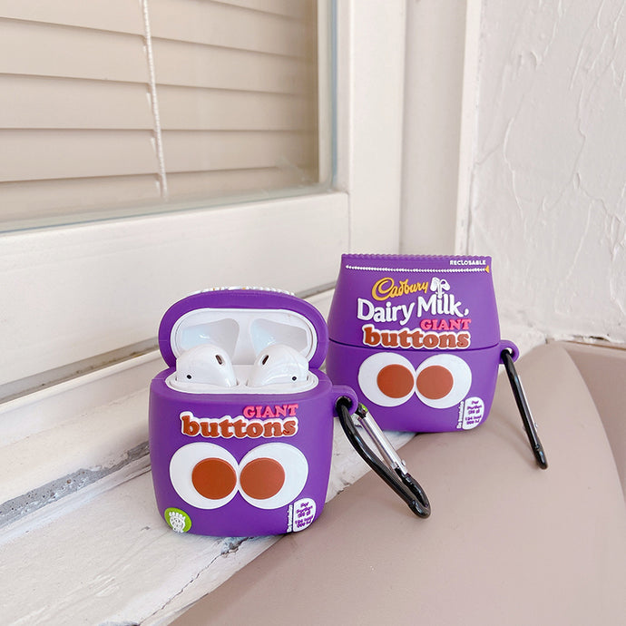 Cadbury Giant Chocolate Buttons Premium AirPods Case Shock Proof Cover