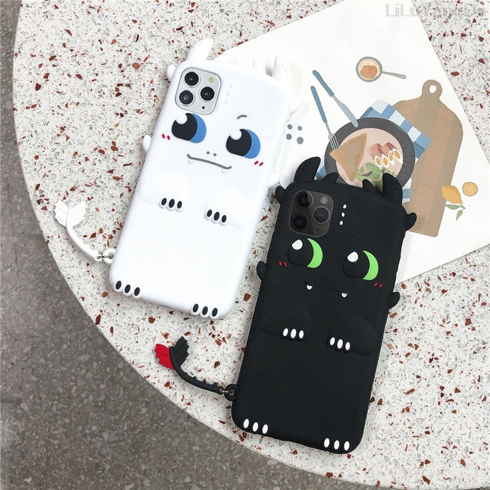 Toothless Dragon  Cute Silicone iPhone Case