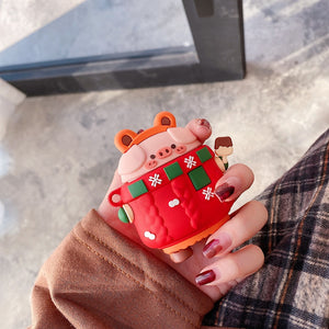 Cute Christmas Pig Premium AirPods Pro Case Shock Proof Cover