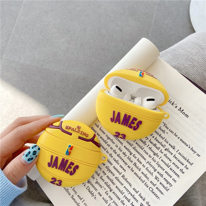 James 'Lakers | Ball' Premium AirPods Pro Case Shock Proof Cover