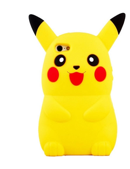 Pokemon Pikachu 'Pika Pika' Cute Silicone Back Cover Case For iPhone 4s 5 5s 6 8 7plus