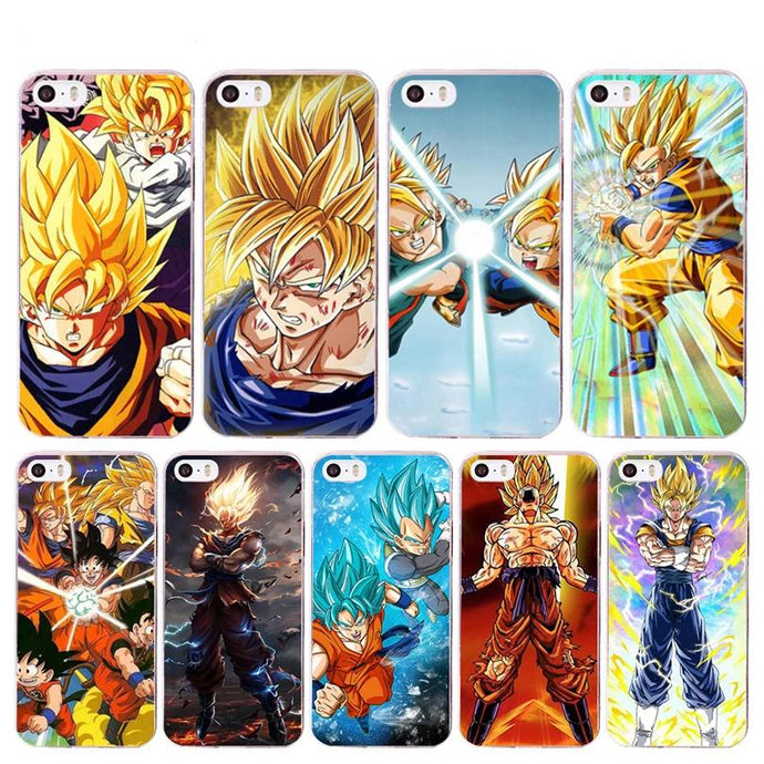 Dragon Ball Z 'Vegeta & Goku' Soft Shell iPhone Case for Apple iPhone 8 7 6 6S Plus X 5 5S XS XR