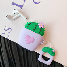 Load image into Gallery viewer, Purple Cactus Purple Heart AirPods Case Shock Proof Cover-iAccessorize