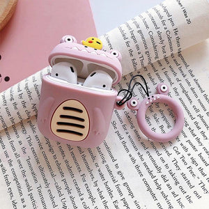 Purple Little Monster AirPods Case Shock Proof Cover-iAccessorize