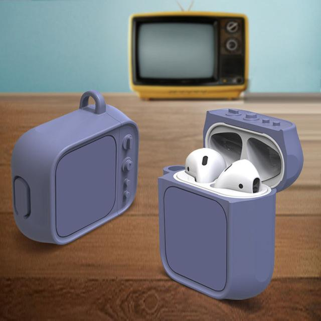 Purple Tube TV AirPods Case Shock Proof Cover-iAccessorize