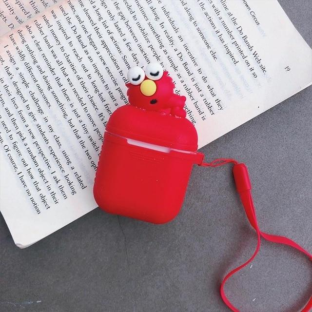 Red Baby Elmo AirPods Case Shock Proof Cover-iAccessorize