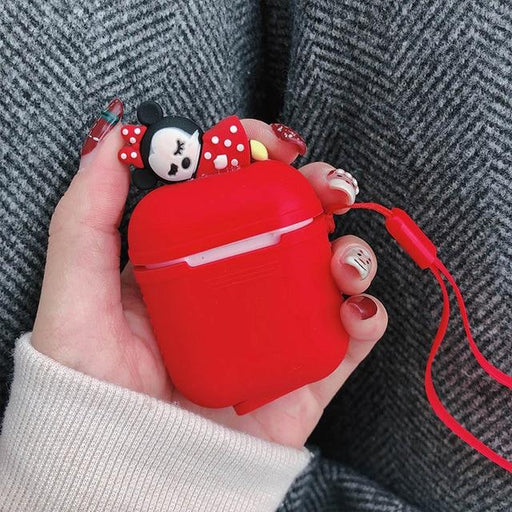 Red Baby Minnie AirPods Case Shock Proof Cover-iAccessorize