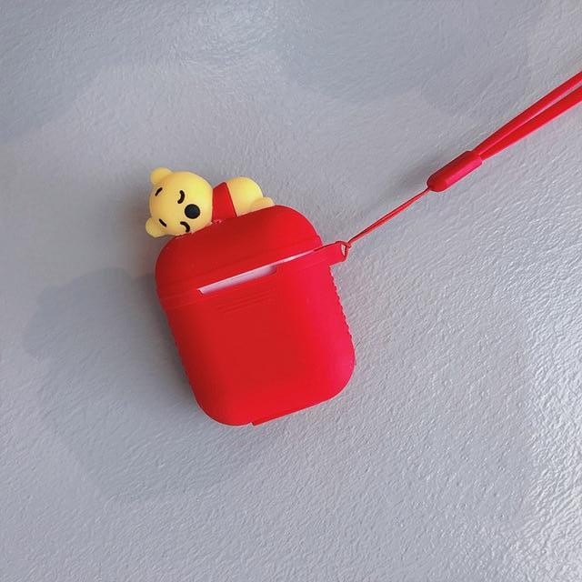 Red Baby Pooh AirPods Case Shock Proof Cover-iAccessorize