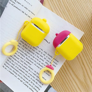 Red Hat Duck AirPods Case Shock Proof Cover-iAccessorize