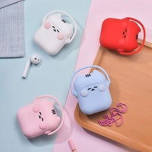 Load image into Gallery viewer, Red Headphones Cat AirPods Case Shock Proof Cover-iAccessorize