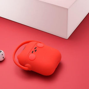 Red Headphones Cat AirPods Case Shock Proof Cover-iAccessorize