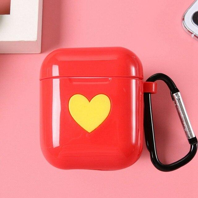 Red Heart AirPods Case Shock Proof Cover-iAccessorize