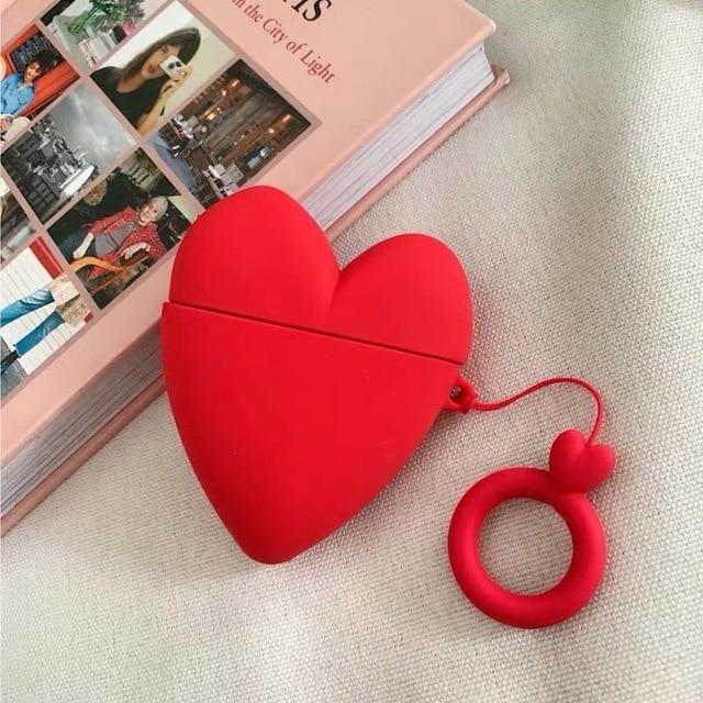 Red Heart Premium AirPods Case Shock Proof Cover-iAccessorize