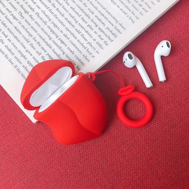Red Lips Premium AirPods Case Shock Proof Cover-iAccessorize