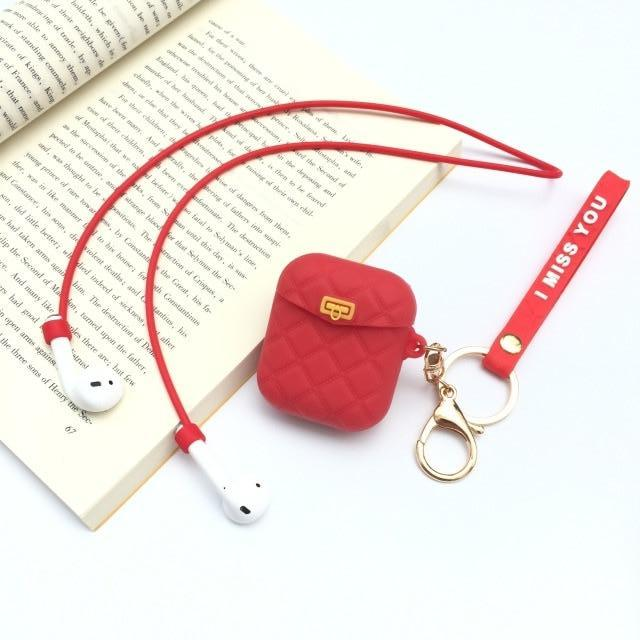 Red Pocketbook AirPods Case Shock Proof Cover-iAccessorize