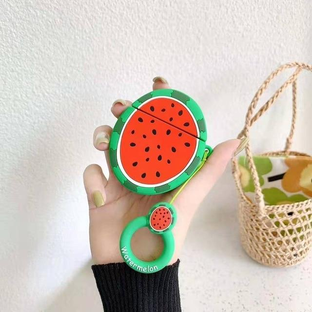 Round Watermelon Premium AirPods Case Shock Proof Cover-iAccessorize