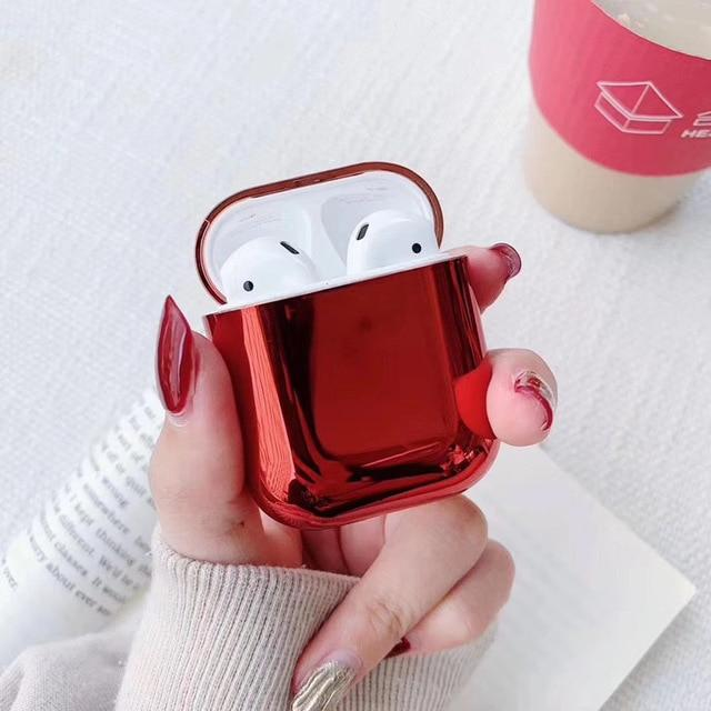 Ruby Plated AirPods Case Shock Proof Cover-iAccessorize