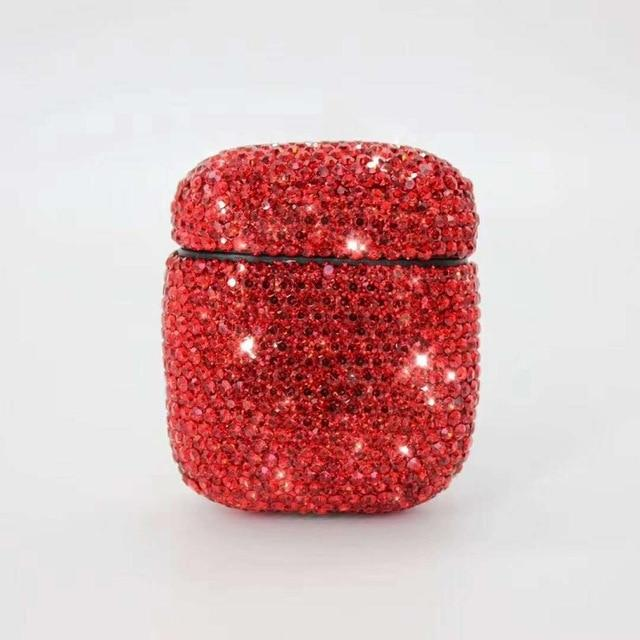 Ruby Rhinestone AirPods Case Shock Proof Cover-iAccessorize