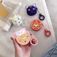 Load image into Gallery viewer, Sailor Moon Luna 'Purple' Premium AirPods Case Shock Proof Cover-iAccessorize