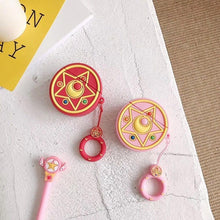Load image into Gallery viewer, Sailor Moon Red Crystal Star Premium AirPods Case Shock Proof Cover-iAccessorize