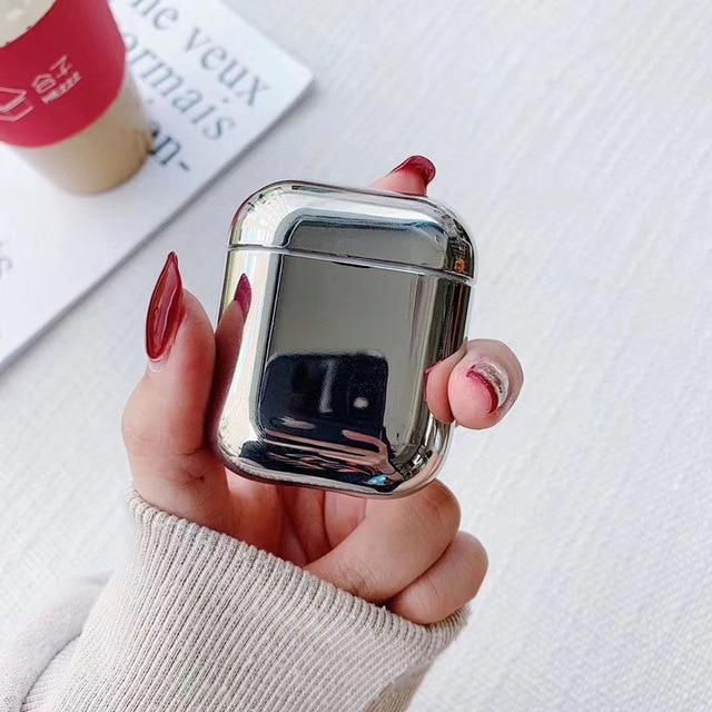 Silver Plated AirPods Case Shock Proof Cover-iAccessorize