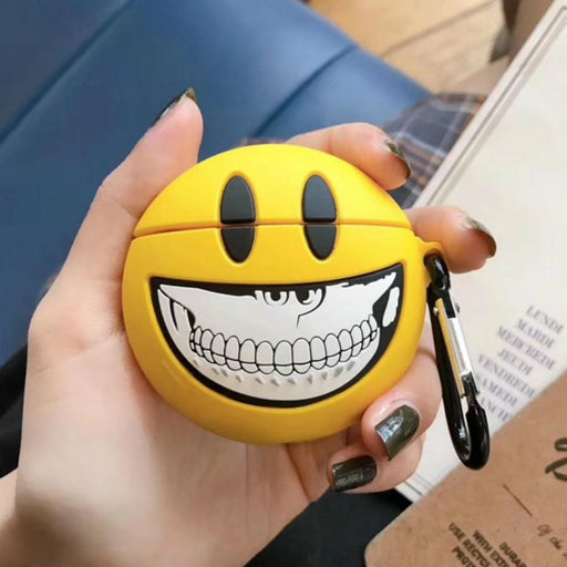 Smile Emoji Skull Premium AirPods Case Shock Proof Cover-iAccessorize