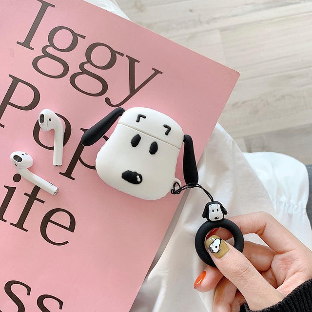 Snoopy Face Premium AirPods Case Shock Proof Cover-iAccessorize