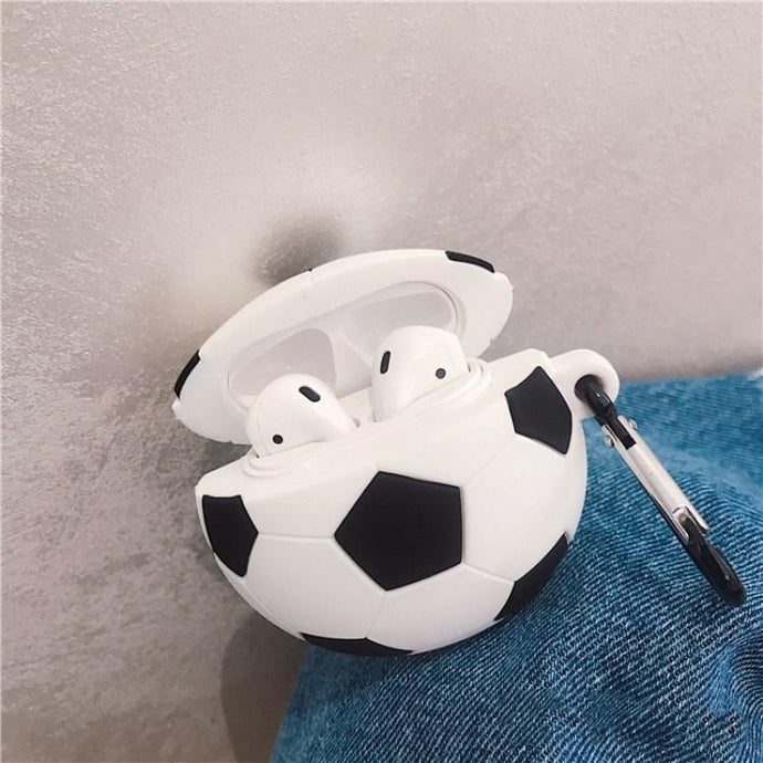 Soccer Ball Premium AirPods Case Shock Proof Cover-iAccessorize