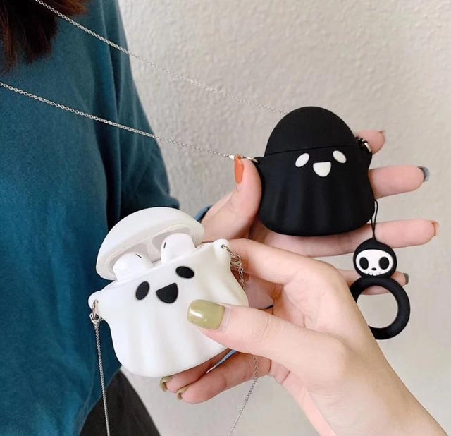 Spooky Ghost 'White' Premium AirPods Case Shock Proof Cover-iAccessorize