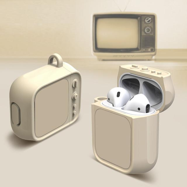 Tan Tube TV AirPods Case Shock Proof Cover-iAccessorize